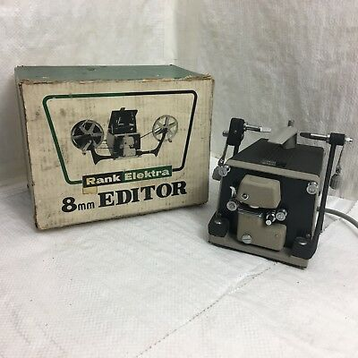 Rank Elektra 8mm editor - vintage film editor - boxed