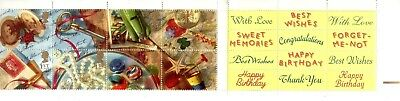 "sg.1592-01.  greeting stamps. ""memories"".  (ex K4)  MNH. (with stickers)"