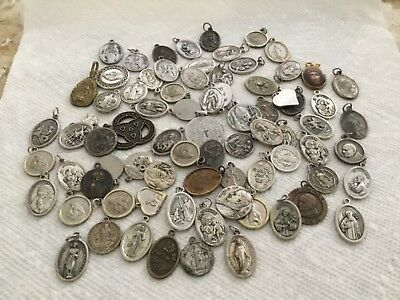Lot of 77 Vintage Religious Medals