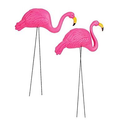 "Pack of 2 34"" Large Bright Pink Flamingo Yard Ornament/ Flamingo Lawn Ornaments"