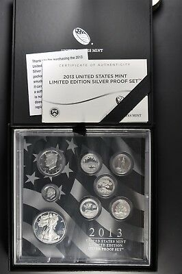 2013 S,W U.S. Mint 90% Silver Limited Edition Proof Set Original Mint Packaging