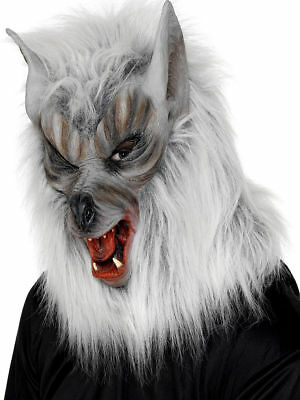 Maschera Lupo Mannaro Grigia in lattice Mask Wolf Smiffy's Art.25564 one size