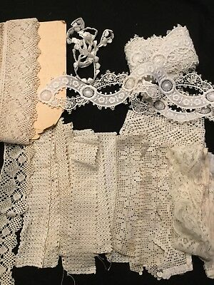 Vintage Victorian Lace Privacy Panels Cuffs Sleeves Lot