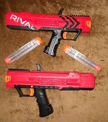 2 Nerf Rival Apollo XV700 Blaster Guns Spring Action 7 High Impact Rounds Red
