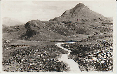Ben Stack And Road To Lairg  - Real Photo  Postcard # P/u # 16652