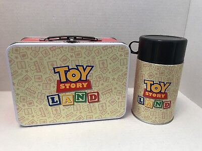 Disney Toy Story Land Prototype Lunch Box & Thermos D23 Cast Exclusive