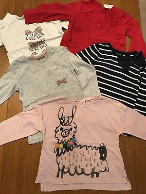 Baby Girl Next Long Sleeve Top Bundle 12-18 Months