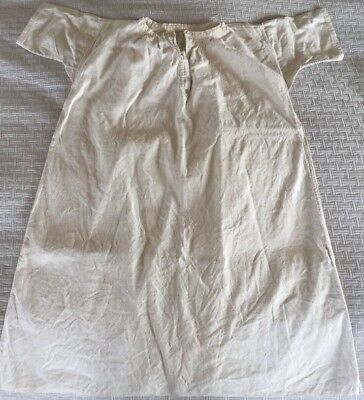 Antique French Smock Night Shirt Linen