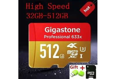 Micro Sd Karte Adapter.512gb Gigastone Pro Micro Sd Card C10 U3 4k Up Tf Reader Adapter