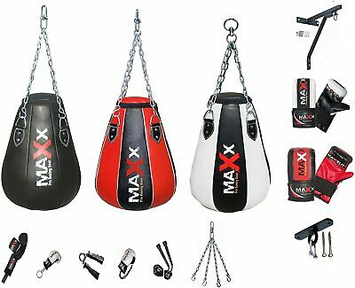 Maxx Rex Leather Curved Focus Pads & Boxing gloves Set & Free Hand Wrap punchbag