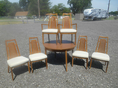 Gorgeous Mid-Century Modern 1960's Drexel Meridian Danish Dining Set of 8