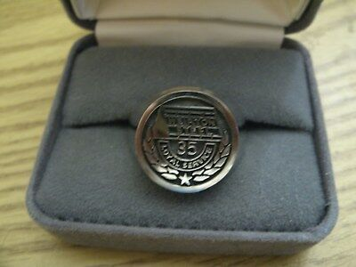 Vintage Weirton Steel 35 Year Loyal Service Ring  marked MOD Alpha , size 11 1/2