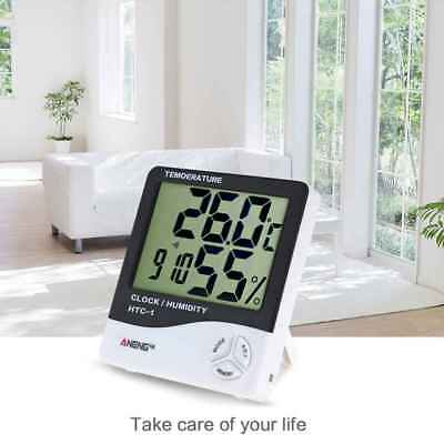 HTC-1 Thermometer Hygrometer 24 Hours Clock Temperature Humidity Tester Detector