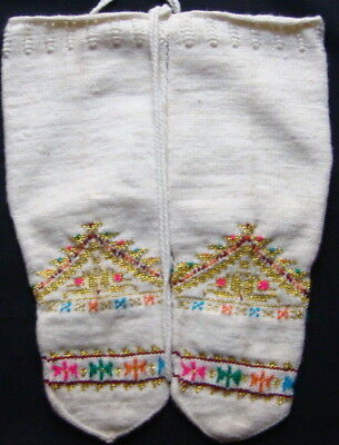 Exquisite Socks, Embroidery, Gold, Excellent Motif, Dragas South Serbia