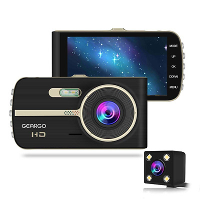"Dash Cam 4"" Display HD Car Video Recorder Wide Angle, G-Sensor, Loop Recording"