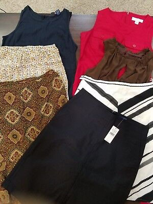 Lot Of 7 Womens Skirts Dresses Ann Taylor Loft  Nine West Banana Republic Size 4