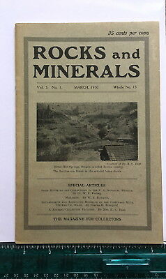 Rocks & Minerals Magazine, Volume 5 Number 1, Whole Number 15, March, 1930