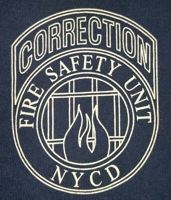 NYCD New York City Correction Department Fire Unit Long T-Shirt Sz L FDNY Rikers