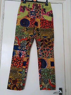 Ankara/African Patch Print Trousers 12