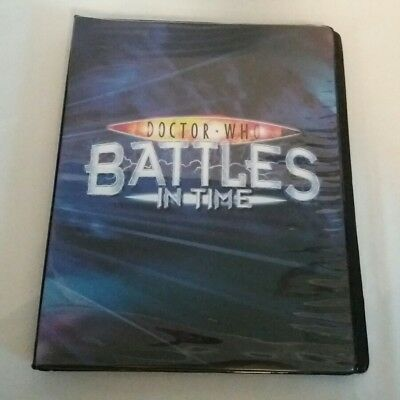 113 Dr. Who Doctor Who Trading Cards + Trading Card Binder Folder  24 Sheets x 9