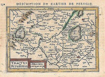 Original antique map of central Italy by Petrus Bertius from 1618