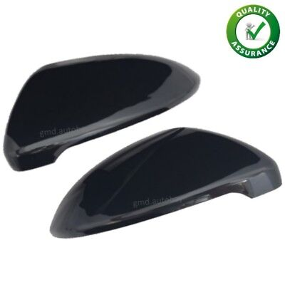 Vw Golf Mk7 R Gti Gloss Black Wing Mirror Covers Caps Casings Pair Left Right