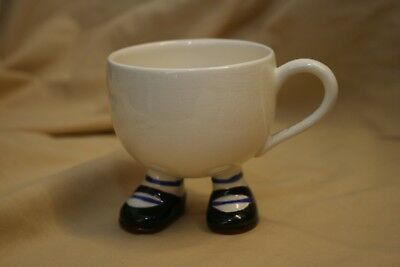 Carlton Ware Walking  Cup With Striped Blue Shoes