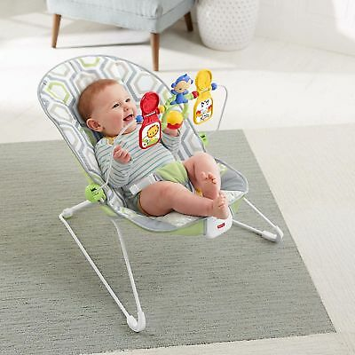 Fisher-Price Baby's Bouncer Geo Meadow Calming Vibrations
