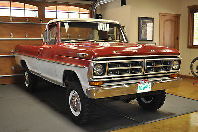 1971 Ford F-250 Sport Custom 1971 Ford F-250 Sport Custom Highboy 4x4 Red/White Great Condition 2nd owner