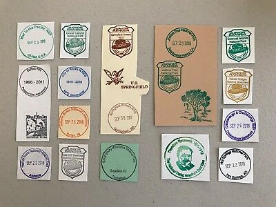20 NATIONAL PARK SERVICE CANCELLATION Passport STAMP Springfield Armory NHS ++
