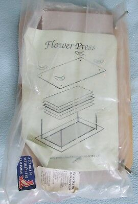 Vintage FLOWER PRESS Crafting Press With Paper & Instructions - Fred Aldous
