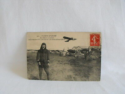 WWI French military aviation training school @ Bleriot postcard 1914