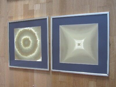 2x Goldgrafik Bilder Space Age orig. 70er Jahre Helios Barbara Design POP ART