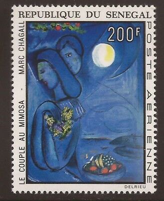 SENEGAL 1973 SG532 Air, Couple with Mimosa (Chagall) MNH Cat £5.00 (WJ623)