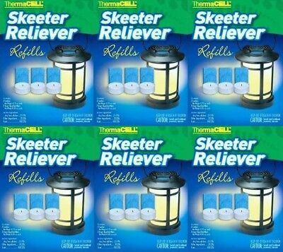 18 REFILLS Skeeter Reliever Refill Boxes 6 Packs ThermaCELL Mosquito repellent