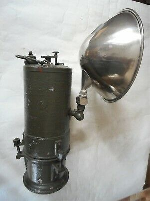 Ancienne lampe lanterne carbure acétylène miners carbide lamp gruben lampe WW2