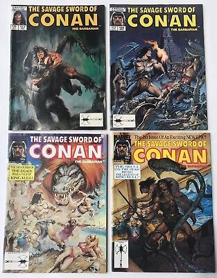 lot of 4 The Savage Sword Of Conan The Barbarian no.157,196,166,190 NM 1989/91