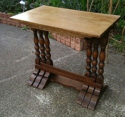 Arts & Crafts Antique Solid Oak Antique Nest of Tables