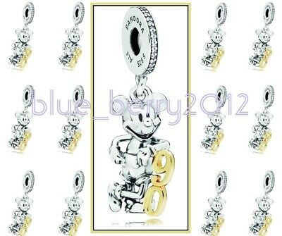 PANDORA Charm Mickey Mouse 90 90th anniversary Pendant LE Disney land Paris DLP