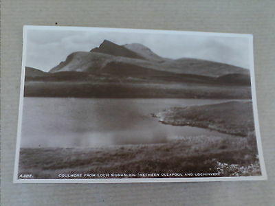Postcard Coulmore from Loch Sionascaig between Ullapool & Lochinver   B4