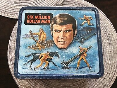 Six Million Dollar Man Lunch Box With Thermos Rare Look Rare