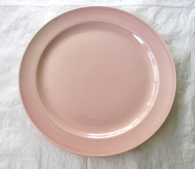 """1940s Taylor, Smith, Taylor TS&T Lu-Ray Pastels 9.25"""" Luncheon Plate Sharon Pink"""