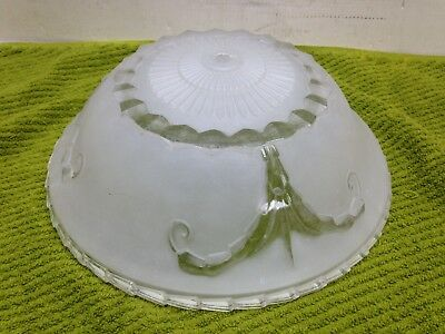 Antique Vintage Art Deco Ceiling Light Shade Clear & Frosted Design