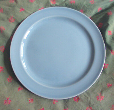 """1940s Taylor Smith Taylor TS&T Lu-Ray Pastels 9.25"""" Luncheon Plate Windsor Blue"""