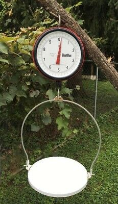 Vintage Chatillon Hanging Product Scale W Flat Pan Double Sided 20 Lbs Type 027