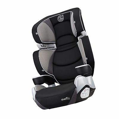 Evenflo ProComfort Rightfit Booster Car Seat Elliot Blue Elephants