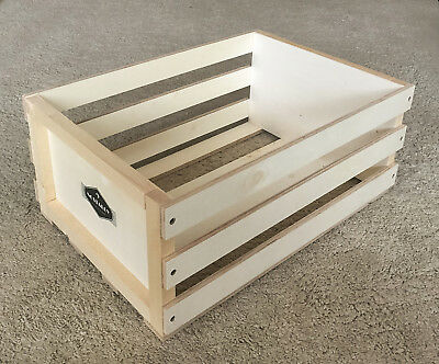 """Auna (German) Nostalgy wooden record crate box, holds apprx 80-100 vinyl 12"""""""