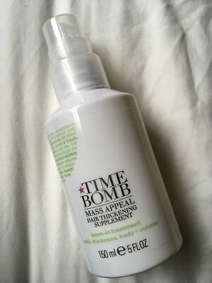 Time Bomb Mass Appeal Hair Thickening Supplement Leave In Treatment NEW £18.50