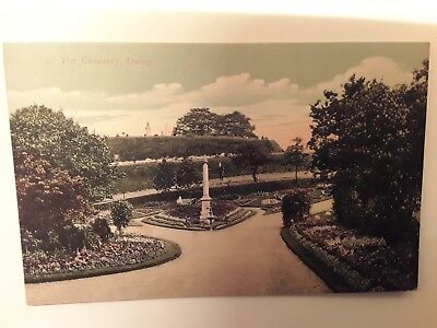 Postcard The Cemetery  Denny,  Stirlingshire .  Unstamped.