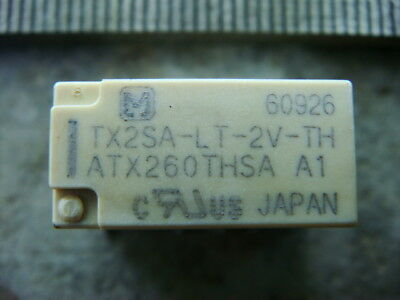 LOT 20 PANASONIC TX2SA-LT-2V-TH RELAYS, DPDT 2V 2-Coil LATCHING - New and Unused